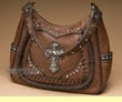 Western Designer Cross Purse -Coffee  (p426)