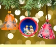 Gourd Southwest Christmas Ornament 3 Set -Andean  (o1)
