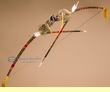 "Native Hand Carved Chief Bow & Arrow 51""-Creek  (ba3)"