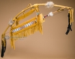 Beaded Native American Deerskin Bow & Arrow -Navajo  (ba2)