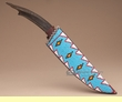 "Hand Beaded Sheathe & Antler Knife 15""  (k29)"