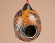 Hand Carved Andean Natural Gourd Bird House  (bh1)