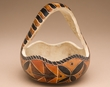 Hand Carved Natural Gourd Basket -Andean Indian  (1)