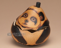 Hand Carved Natural Gourd Box -Andean Indian  (2)