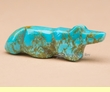 Hand Carved Stone Zuni Fetish -Turquoise Fox  (f48)