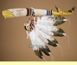 "Hand Carved Vintage Lakota Talking Stick 22"" -Eagle  (ts107)"