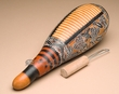 """Hand Etched Andean Indian Gourd Instrument 12""""  (ga5)"""