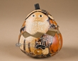 """Hand Etched & Burnished Gourd Box 4.5""""  (gb3)"""