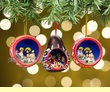 Hand Etched Gourd Nativity Ornament Set of 3  (o43)