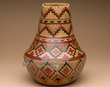 "Hand Etched Indian Pottery Vase 9.5"" -Navajo  (pv4)"