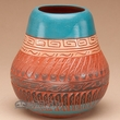 "Hand Etched Navajo Pottery Vase 4.5"" (p334)"