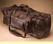 "Hand Made Leather Duffle Bag 22"" -Rustic Brown  (db15)"