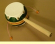 "Hand Made Spinner Drum 7"" -Green"