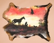 Hand Painted Aminal Hide 32x24 -Cowboy  (51)