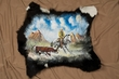 Hand Painted Calf Skin Cow Hide 28x27 -Strays  (50)