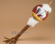 "Hand Painted Gourd Rattle 16"" -Buffalo  (70)"