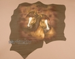 Western Hand Painted Hide 32x32 -Horses  (49)