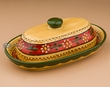 Hand Painted Mexican Talavera Pottery Butter Dish (t16)