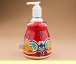 "Mexican Talavera Pottery Soap Dispenser 7.25"" (t28)"