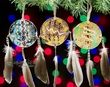 Hand Painted Mini Shield Ornament 3 Set -Navajo  (o69)