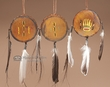 Hand Painted Native American Drum Ornament  Set  (o21)