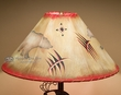 "Hand Painted Rustic Leather Lampshade 20"" -Bear  (OL10)"