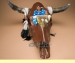 Hand Painted Steer Skull 22.5x21  -Chief  (ps80)