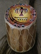 Hand Painted Tarahumara Indian Drum 8x12 - Thunderbird   (24b)