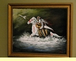 "Hand Painted Western Art 19""x23"" -Indian Brave   (13)"