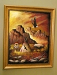 "Hand Painted Western Art 19""x23"" -Indian Village  (3)"