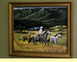 "Hand Painted Western Cowboy Art 19""x23"" -Valley   (18)"