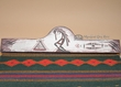 "Hand Painted Wooden Rug Hanger 30""  -Kokopelli   (rh43)"