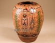 "Hand Tooled Navajo Indian Pottery Vase 8.5"" (T39)"