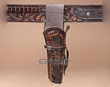 """Hand Tooled Western Leather Holster 10"""" -Right Handed  (h8)"""