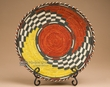 "Hand Woven Turtle Basket & Stand 12""  (kb7)"