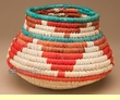 Hand Woven Olla Style Palm Basket 8x5.5  (mp3)