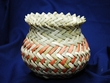 Hand Woven Tarahumara Indian Basket 4.5x5  (63)