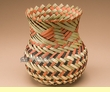 "Hand Woven Tarahumara Indian Basket 6.5""  (52)"