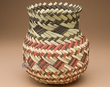 "Hand Woven Tarahumara Indian Basket 8""  (53)"