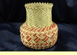 "Hand Woven Tarahumara Indian Basket 6""x8"" ( t )"