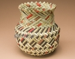 "Hand Woven Tarahumara Indian Basket 6""x7"" ( r )"