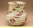 "Hand Woven Tarahumara Indian Basket 7""x7""  (v)"