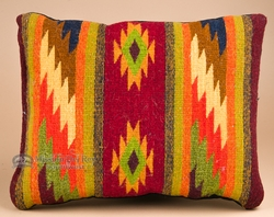Hand Woven Wool Zapotec Indian Pillows 12x16 E