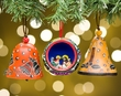 Handcrafted Andean Indian Christmas Ornament 3 Set  (o53)