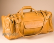 "Handcrafted Cowhide Travel Bag 22"" -Caramel  (b455)"