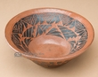 Handcrafted & Etched Navajo Bowl -Horse Hair  (p348)