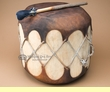 "Native Log Pueblo Drum 13""x12"" (pd16c)"