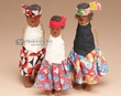 Handcrafted Tarahumara Indian Doll Ornament Set -3 pcs.  (co22)