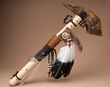 "Handcrafted Tarahumara Jaw Bone War Club 21""  (t120)"
