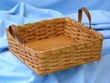 Handmade Amish Basket 9x9 -Square Basket  (EM15)